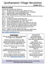 120927ca5 Quidhampton Village Newletter October 2012