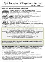 160201 Quidhampton Village Newsletter February 2016