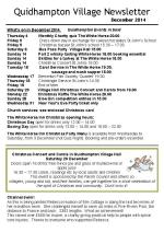 141130 Quidhampton Village Newsletter Dec 2014