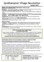 160104 Quidhampton Village Newsletter January 2016