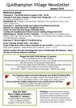 180103 Quidhampton Village Newsletter January 2018