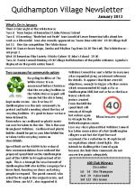 130101a5 Quidhampton Village Newsletter January 2013