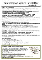 141029 Quidhampton Village Newsletter Nov 2014