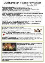 161030 Quidhampton Village Newsletter November 2016