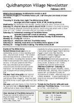 150202a Quidhampton Village Newsletter February 2015