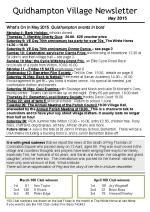 150501 Quidhampton Village Newsletter May 2015
