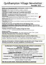 151030 Quidhampton Village Newsletter November 2015