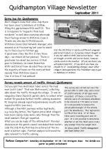 110817 Quidhampton Newsletter September 2011