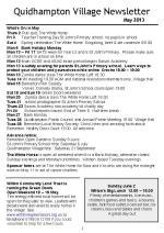 130503 Quidhampton Village Newsletter May 2013