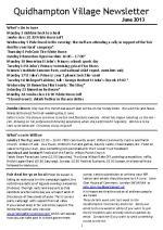 130613a5 Quidhampton Village Newsletter June 2013