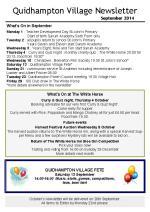 140901 Quidhampton Village Newsletter Sept 2014