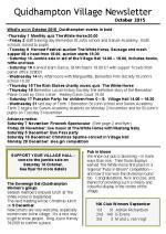 150930 Quidhampton Village Newsletter October 2015