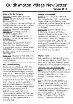 120129cA5 Quidhampton Village Newletter February 2012