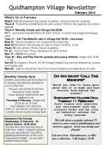 140131 Quidhampton Village Newsletter February 2014