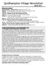 140301 Quidhampton Village Newsletter March 2014