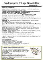 141029 Quidhampton Village Newsletter Nov 2014