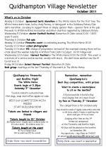 110930a5 Quidhampton Newsletter October 2011