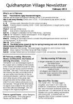 130131 Quidhampton Village Newsletter February 2013